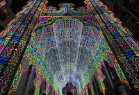 Гентский Фестиваль 2012. Cобор Света (Light Cathedral), возведенный из 55 000 светодиодных ламп.