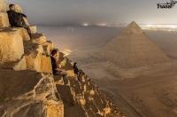 Вид с пирамиды Хеопса. Египет.