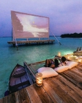 The biggest over water cinema in Maldives