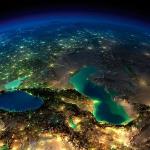 Каспийское море из космоса