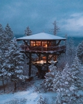Fire Lookout Tower Replica, Whitefish, Montana