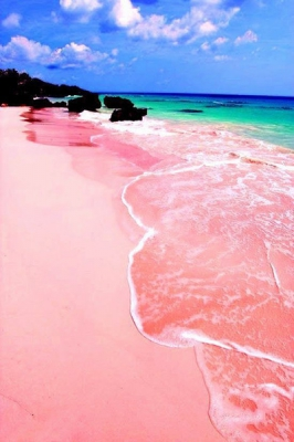 Pink Budelli Beach in Sardinia, Italy