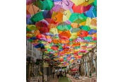 Agueda's Umbrella Sky Project. Agueda, Portugal
